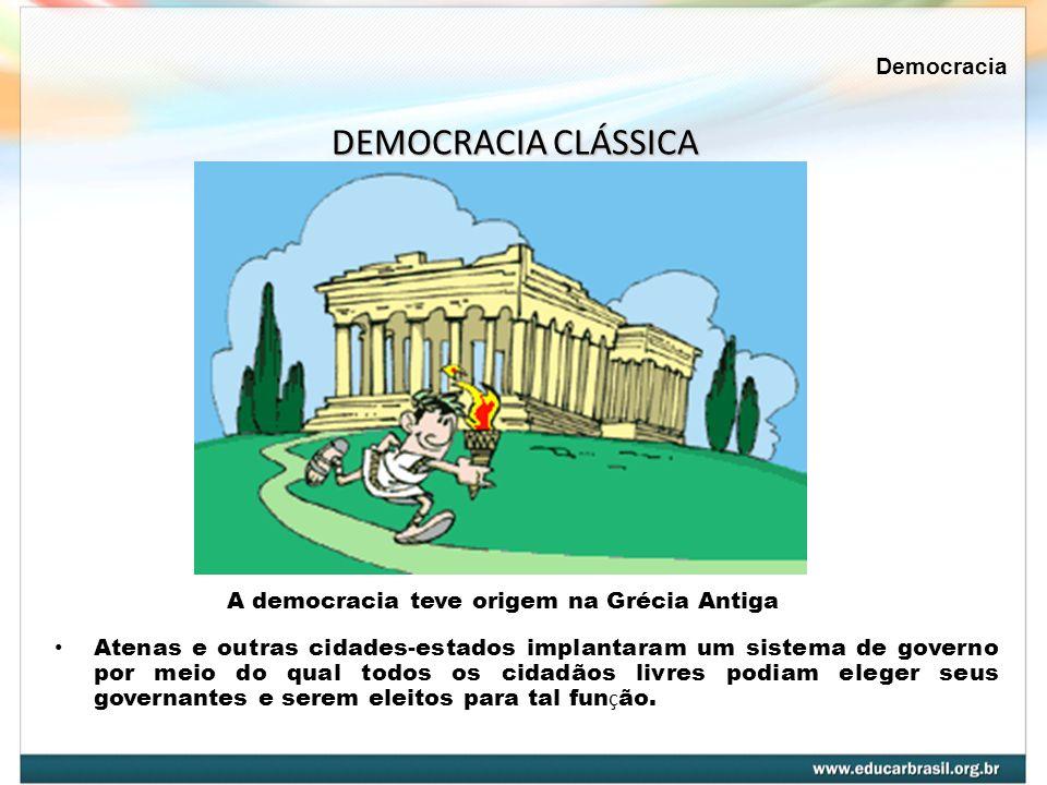 DEMOCRACIA CLÁSSICA Democracia
