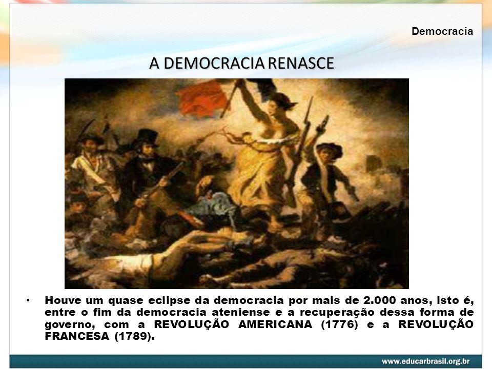 A DEMOCRACIA RENASCE Democracia
