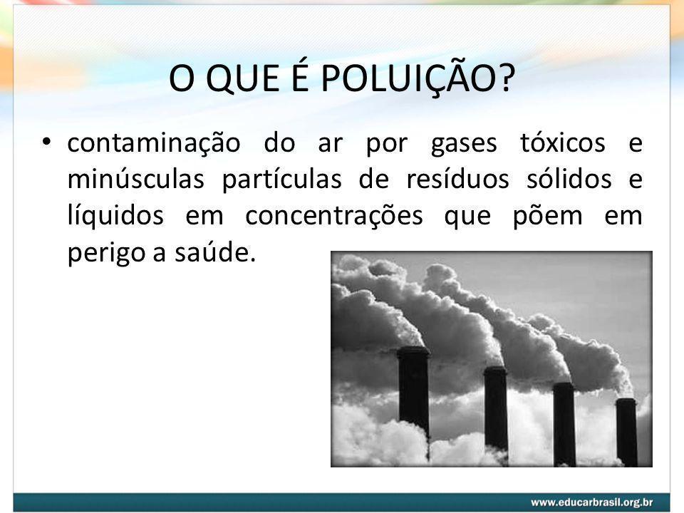 O QUE É POLUIÇÃO
