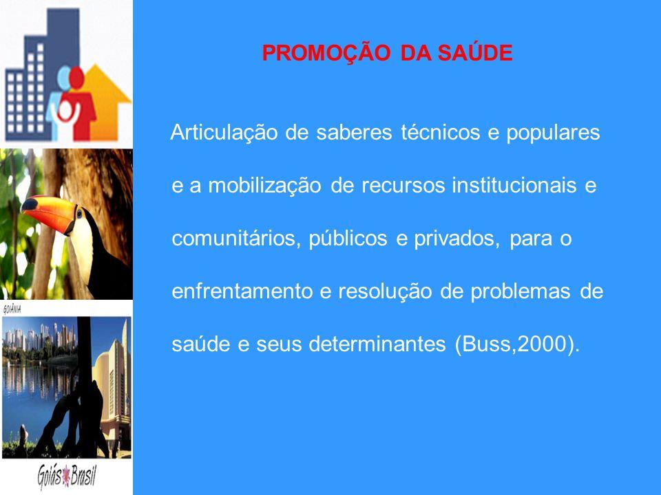 PROMOÇÃO DA SAÚDEArticulação de saberes técnicos e populares. e a mobilização de recursos institucionais e.