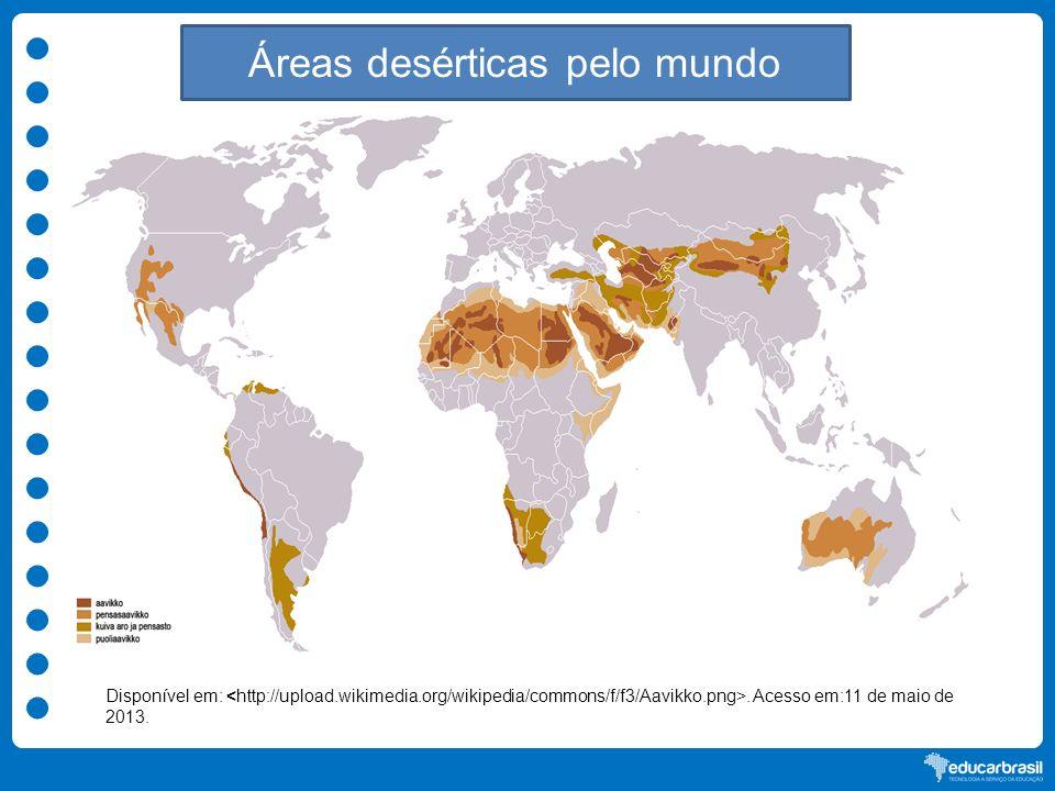 Áreas desérticas pelo mundo
