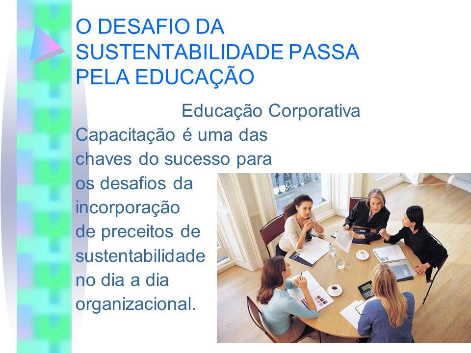 O DESAFIO DA SUSTENTABILIDADE PASSA PELA EDUCAÇÃO