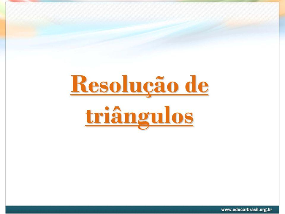 Resolução de triângulos