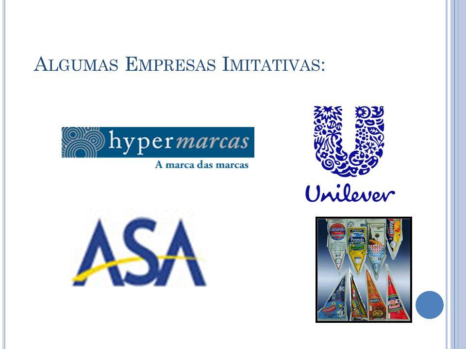 Algumas Empresas Imitativas: