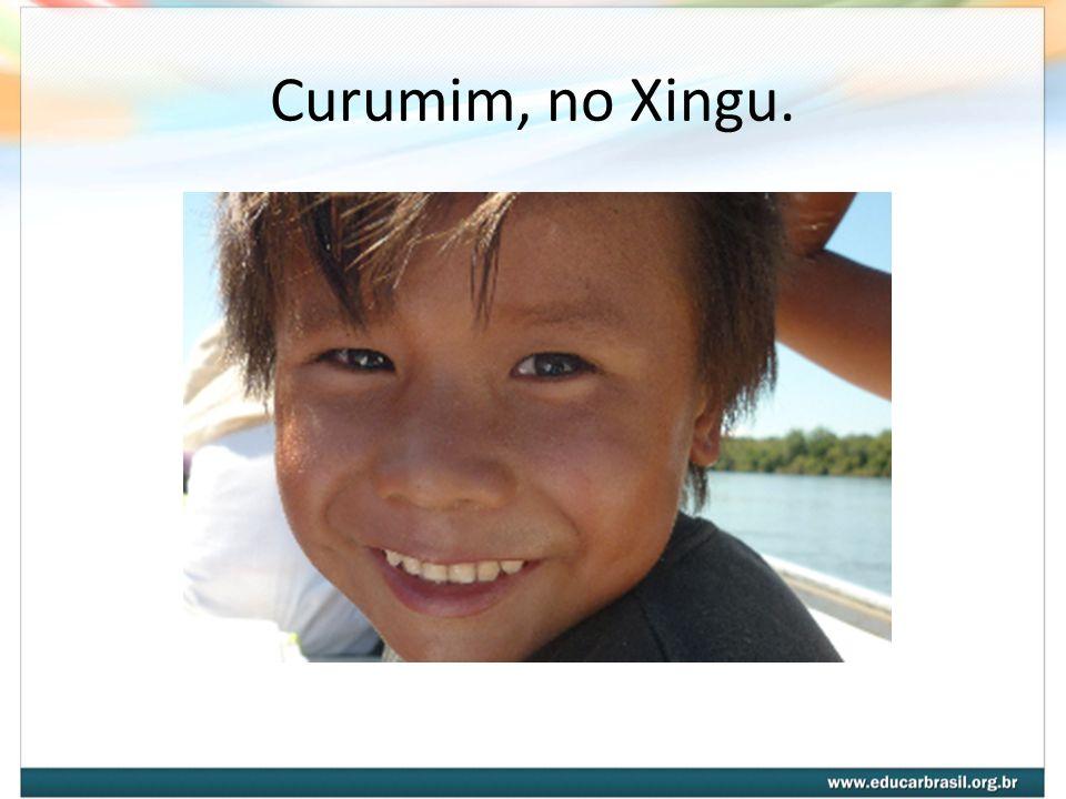 Curumim, no Xingu.