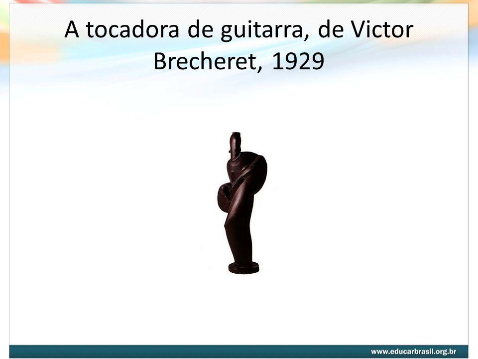A tocadora de guitarra, de Victor Brecheret, 1929