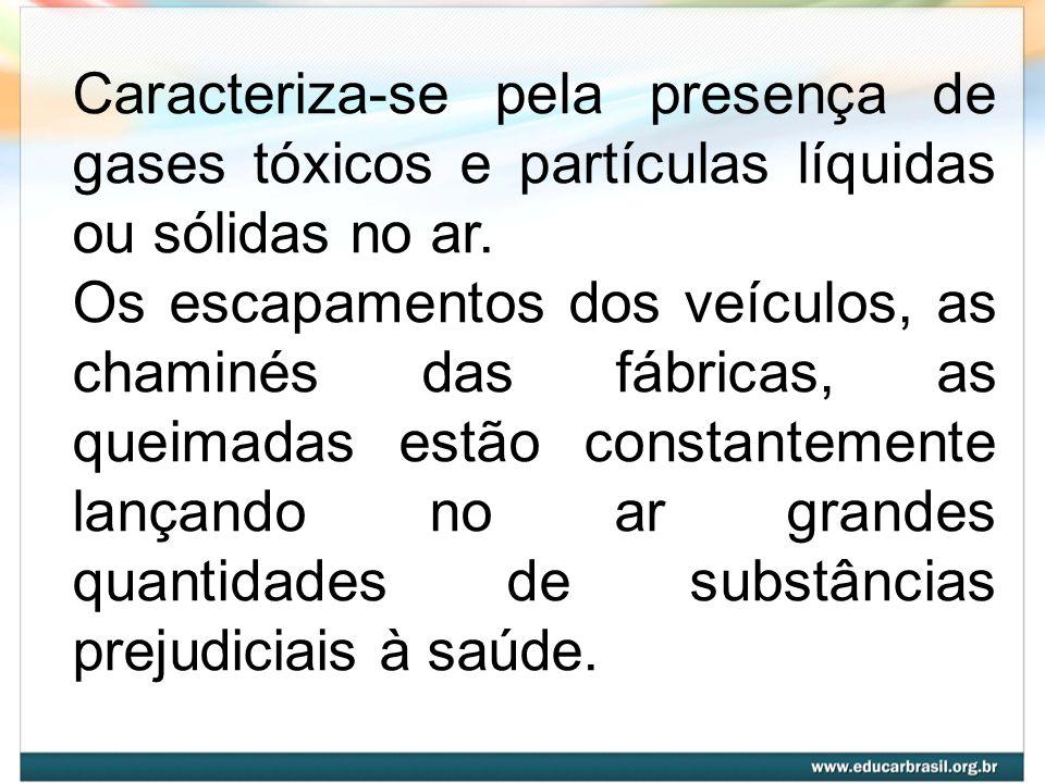 Caracteriza-se pela presença de gases tóxicos e partículas líquidas ou sólidas no ar.