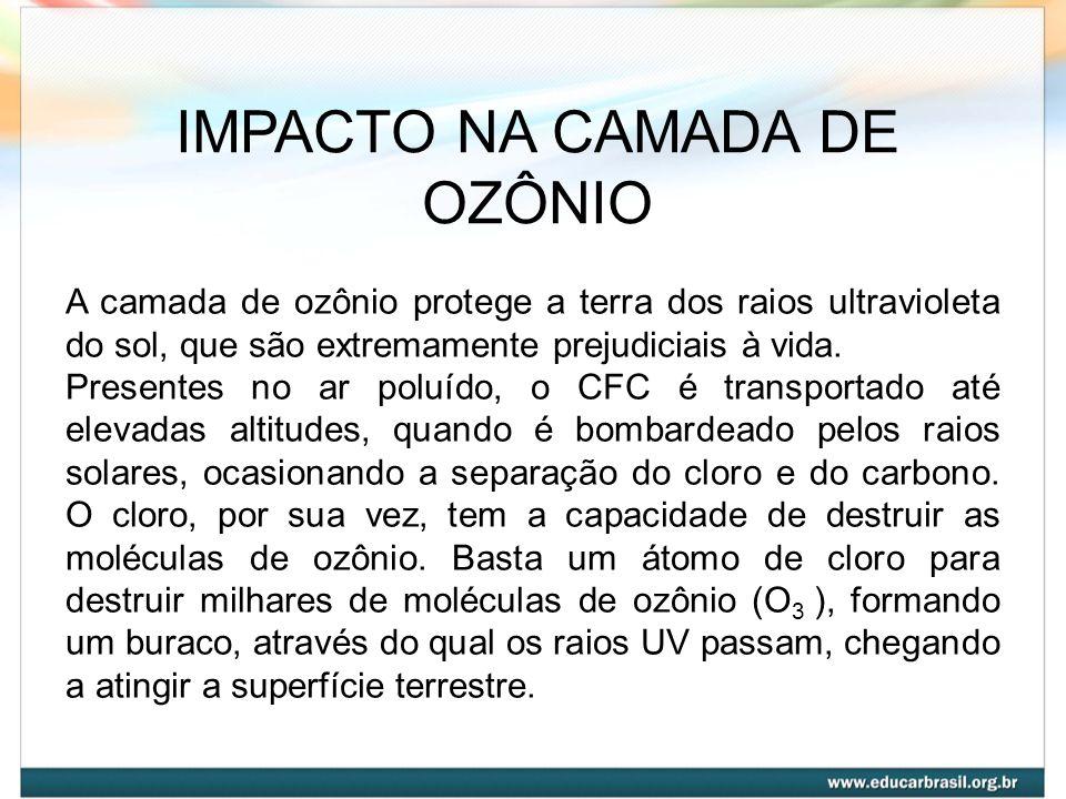 IMPACTO NA CAMADA DE OZÔNIO