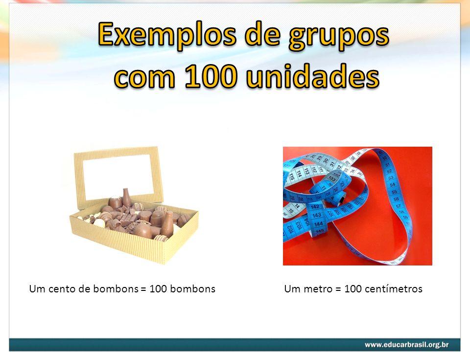 Exemplos de grupos com 100 unidades