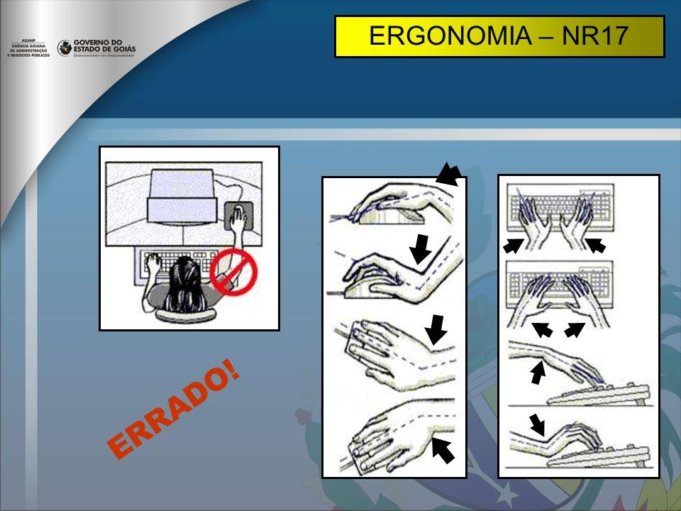 ERGONOMIA – NR17 ERRADO!