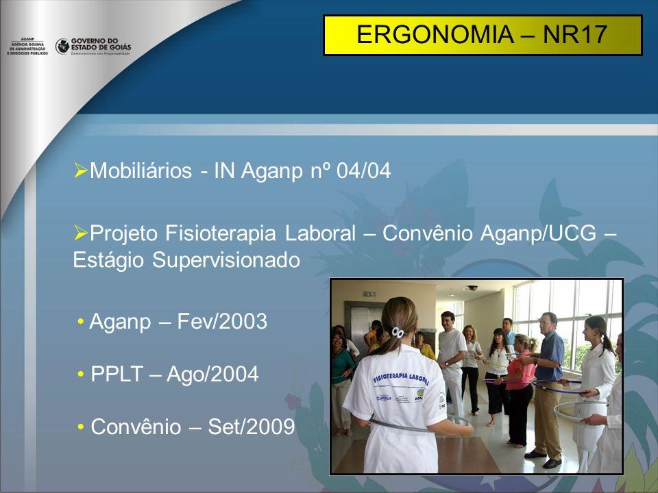 ERGONOMIA – NR17 Mobiliários - IN Aganp nº 04/04