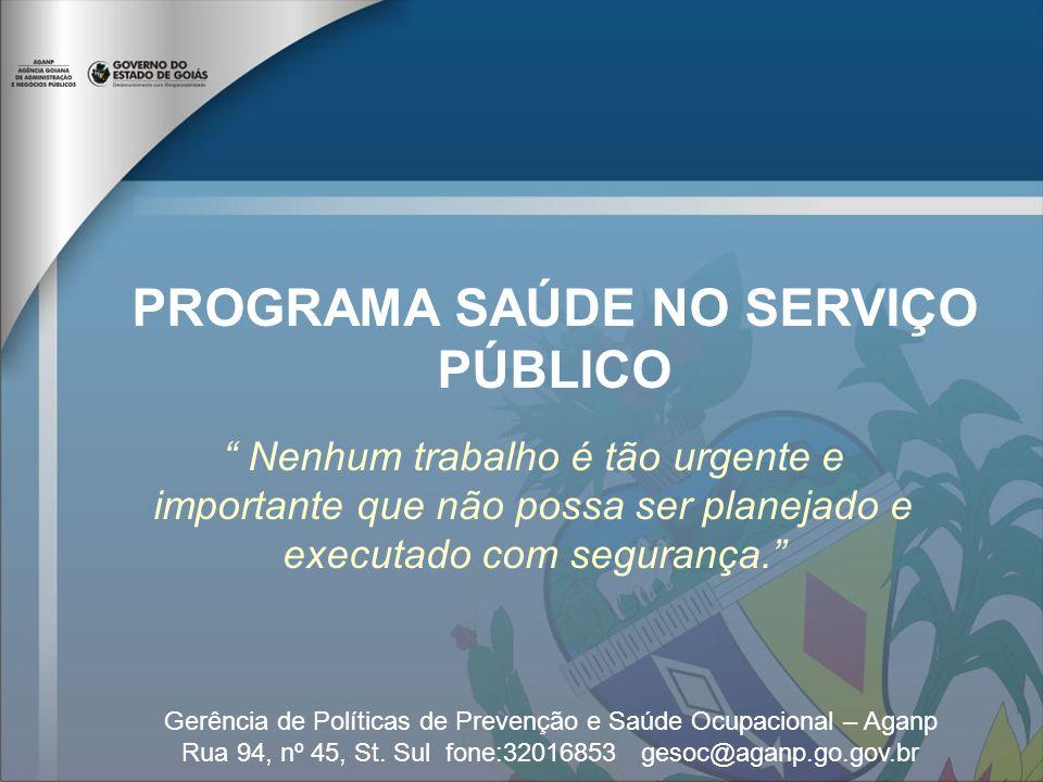 PROGRAMA SAÚDE NO SERVIÇO PÚBLICO