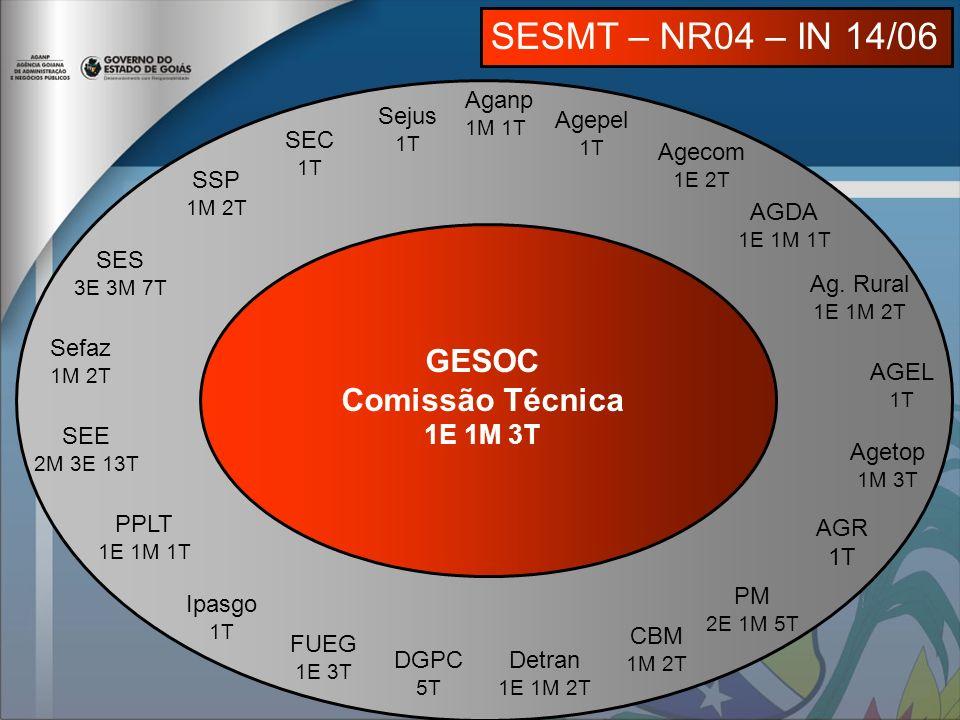 SESMT – NR04 – IN 14/06 GESOC Comissão Técnica 1E 1M 3T Aganp Sejus