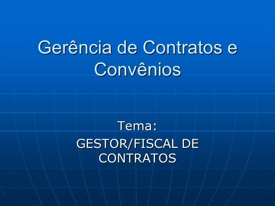 Gerência de Contratos e Convênios
