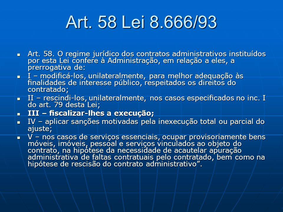 Art. 58 Lei 8.666/93