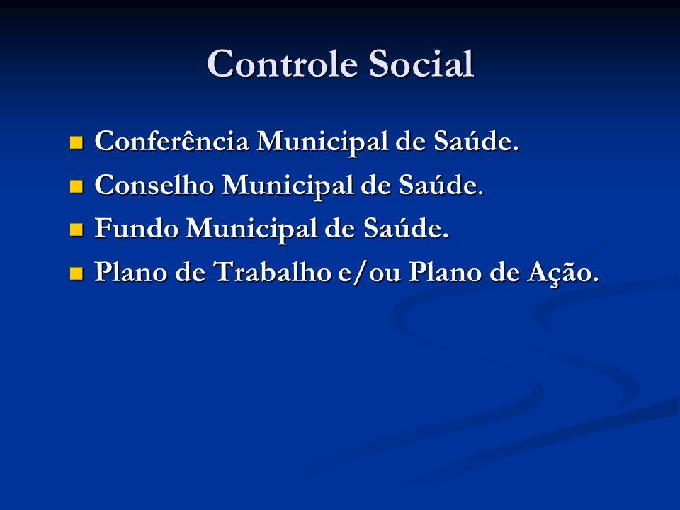Controle Social Conferência Municipal de Saúde.