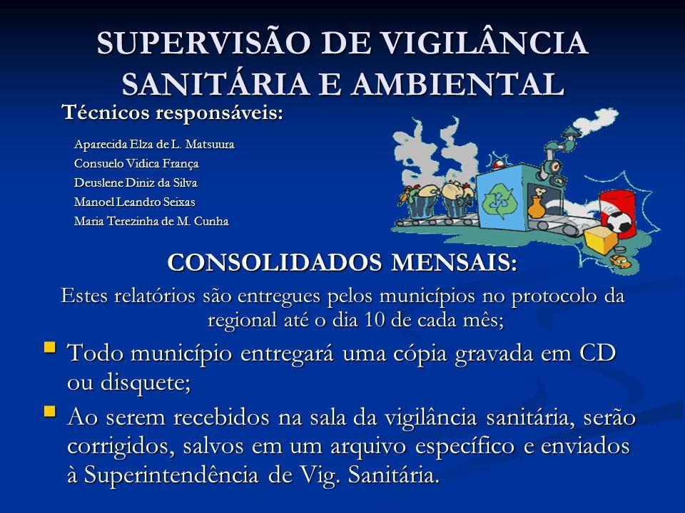 SUPERVISÃO DE VIGILÂNCIA SANITÁRIA E AMBIENTAL