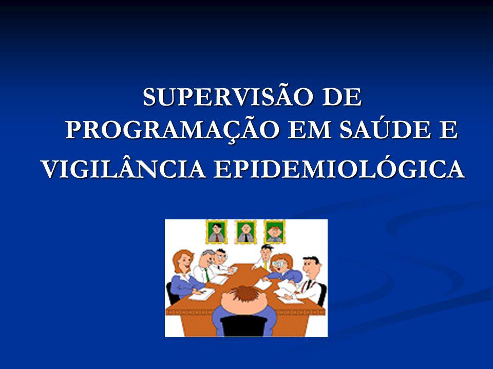 SUPERVISÃO DE PROGRAMAÇÃO EM SAÚDE E VIGILÂNCIA EPIDEMIOLÓGICA