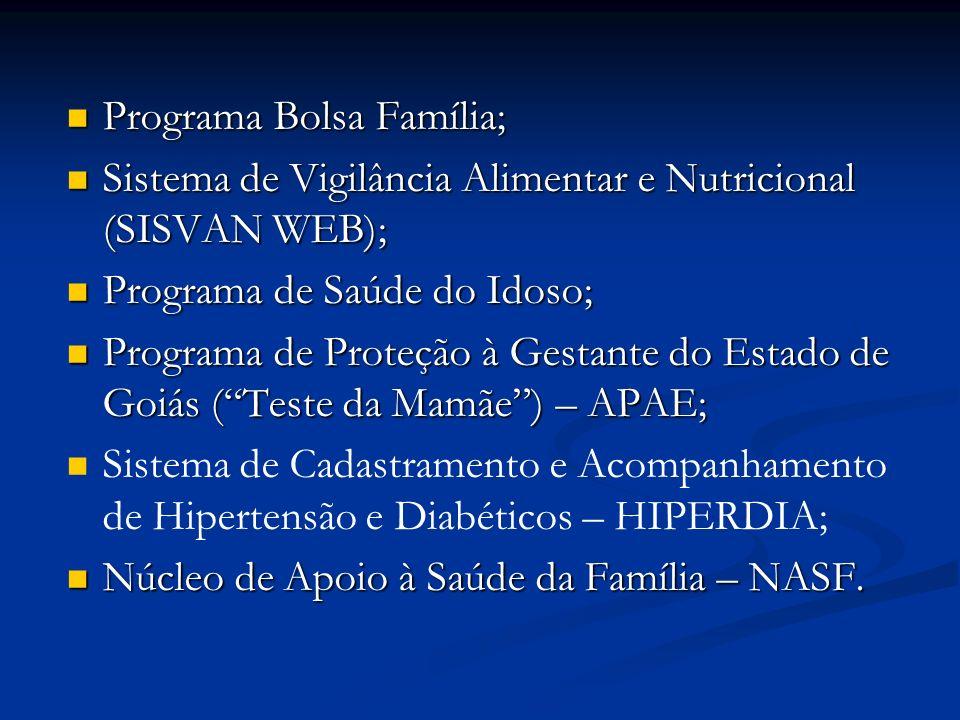 Programa Bolsa Família;