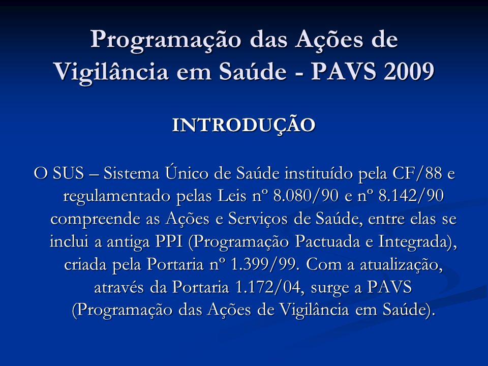 Programação das Ações de Vigilância em Saúde - PAVS 2009