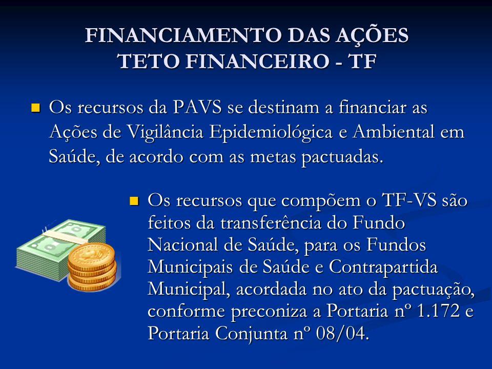 FINANCIAMENTO DAS AÇÕES TETO FINANCEIRO - TF
