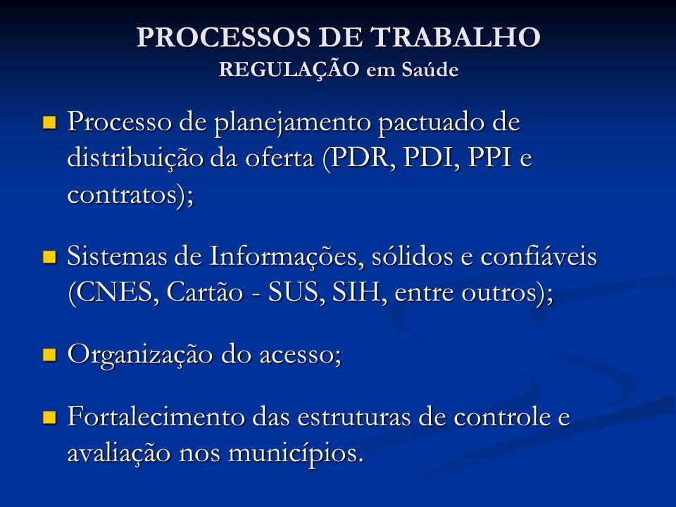 PROCESSOS DE TRABALHO REGULAÇÃO em Saúde