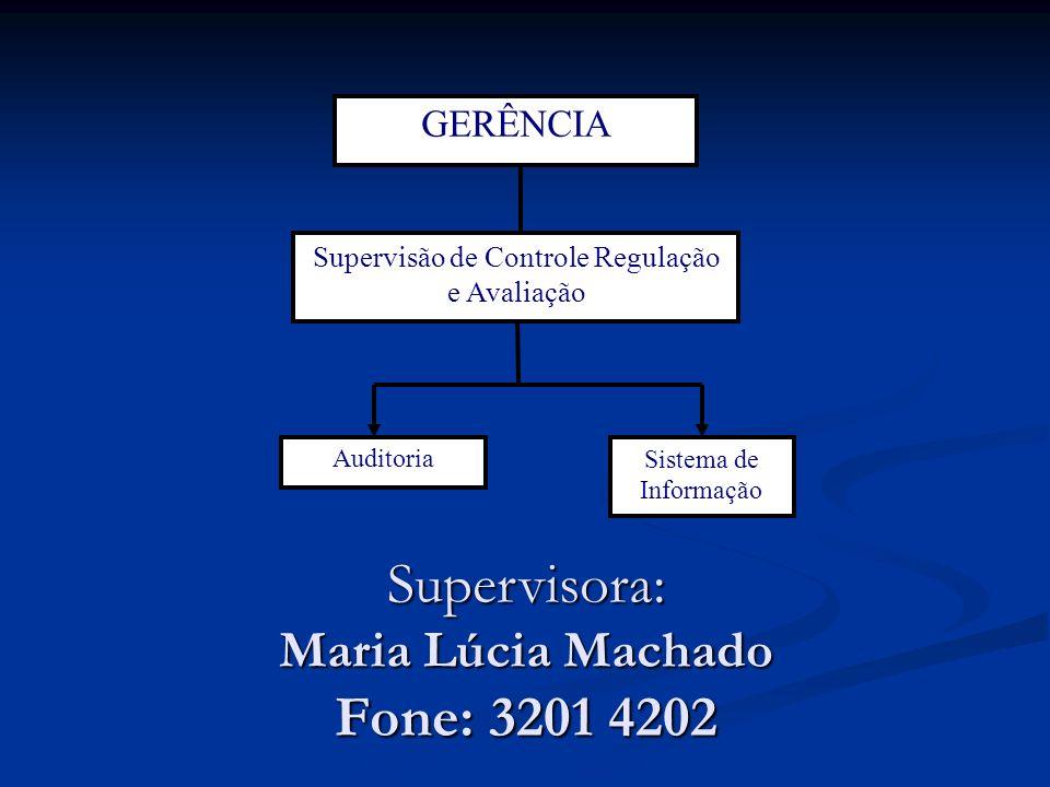 Supervisora: Maria Lúcia Machado Fone: 3201 4202