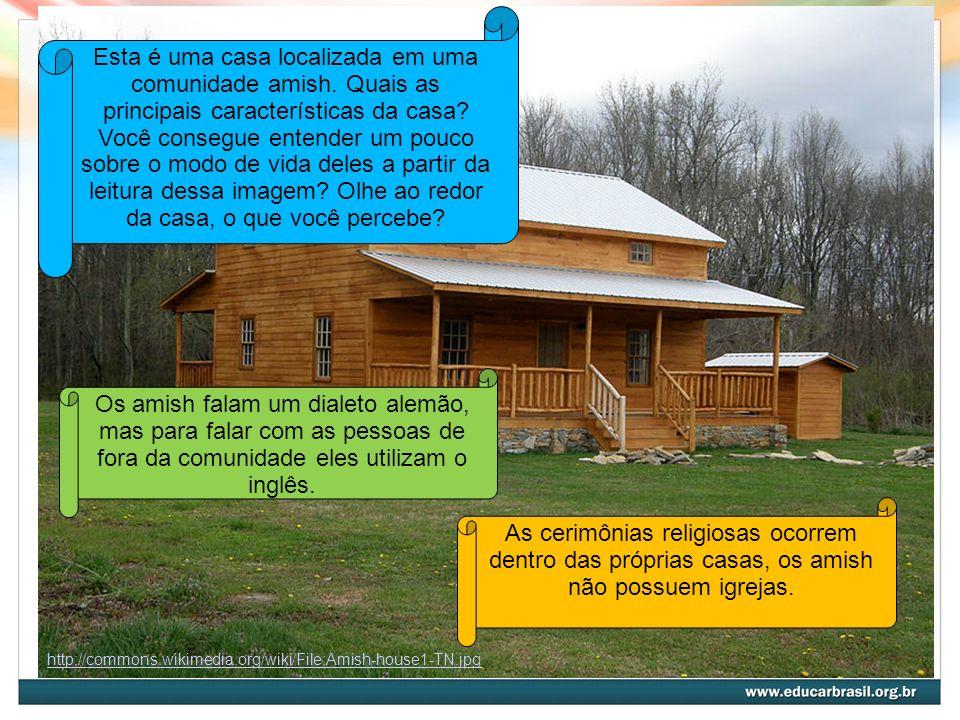 Esta é uma casa localizada em uma comunidade amish