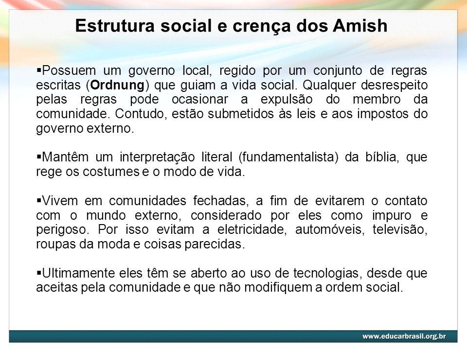 Estrutura social e crença dos Amish