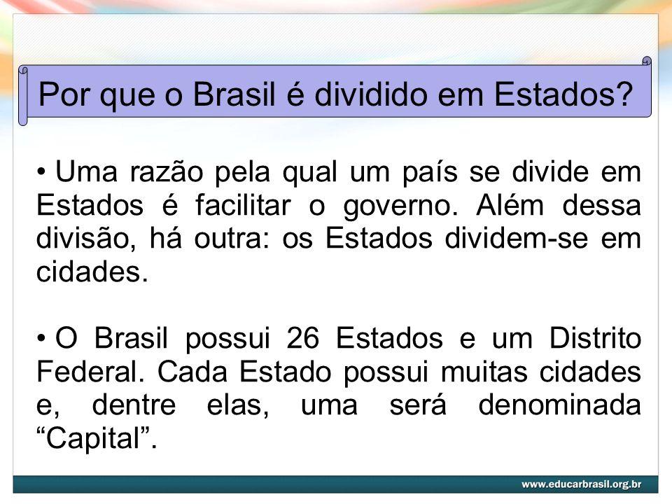 Por que o Brasil é dividido em Estados