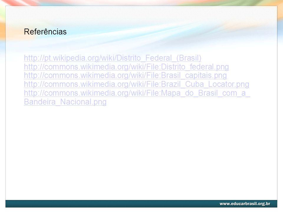 Referênciashttp://pt.wikipedia.org/wiki/Distrito_Federal_(Brasil) http://commons.wikimedia.org/wiki/File:Distrito_federal.png.