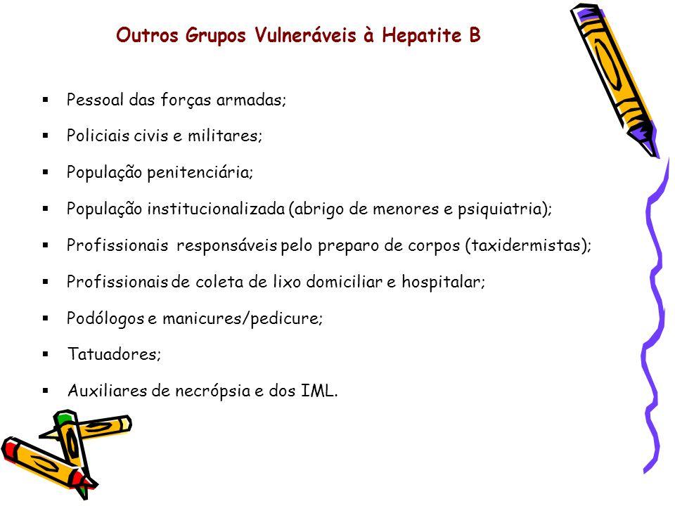 Outros Grupos Vulneráveis à Hepatite B