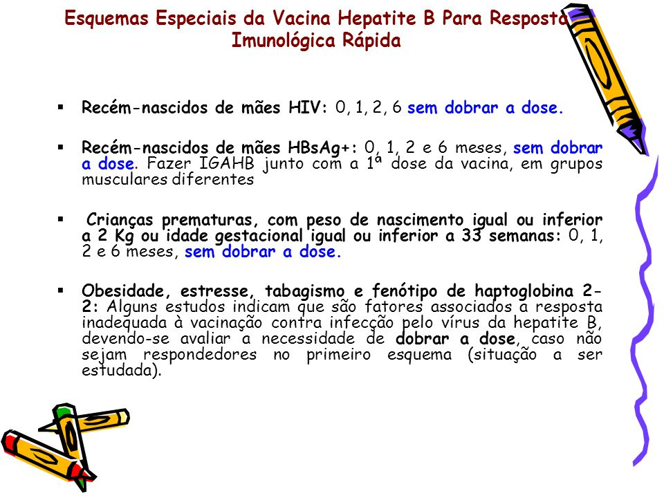 Esquemas Especiais da Vacina Hepatite B Para Resposta Imunológica Rápida