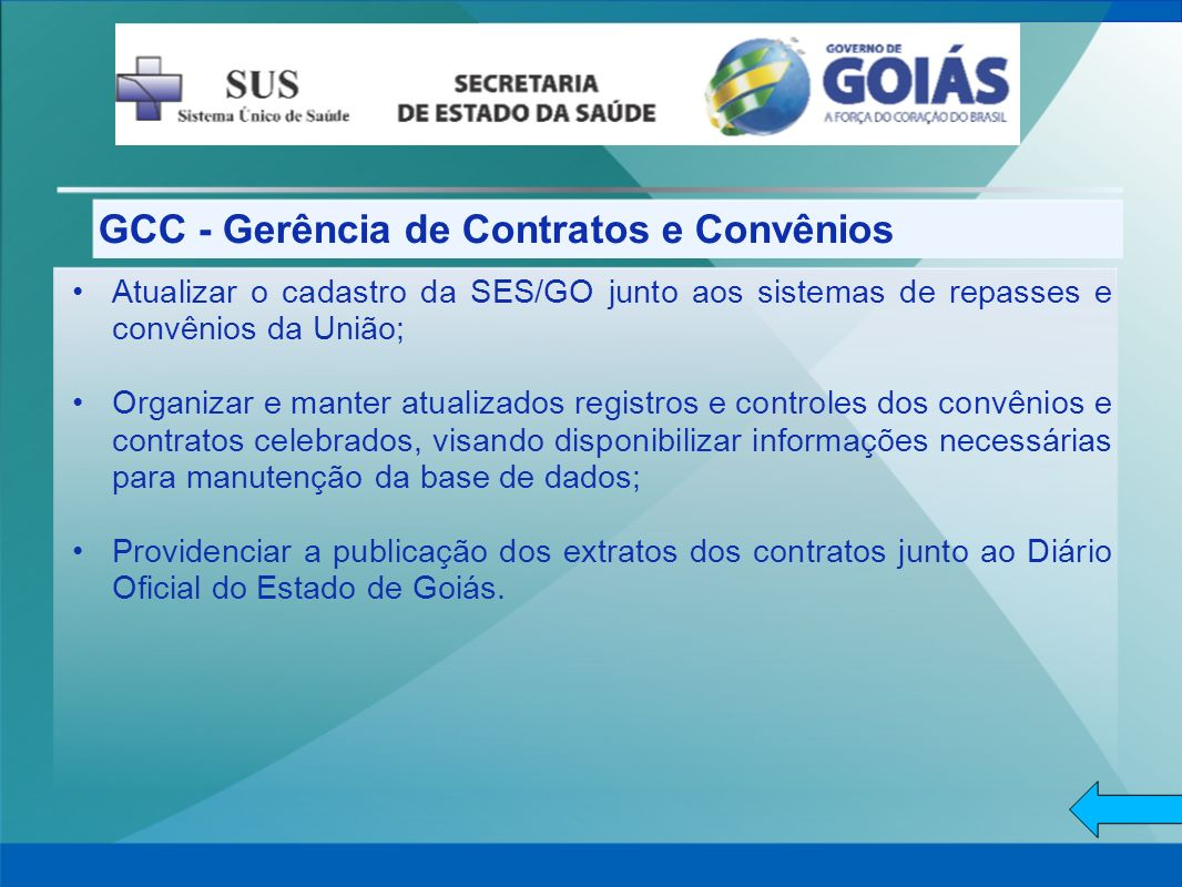 GCC - Gerência de Contratos e Convênios