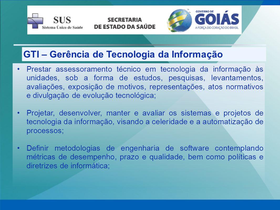 GTI – Gerência de Tecnologia da Informação