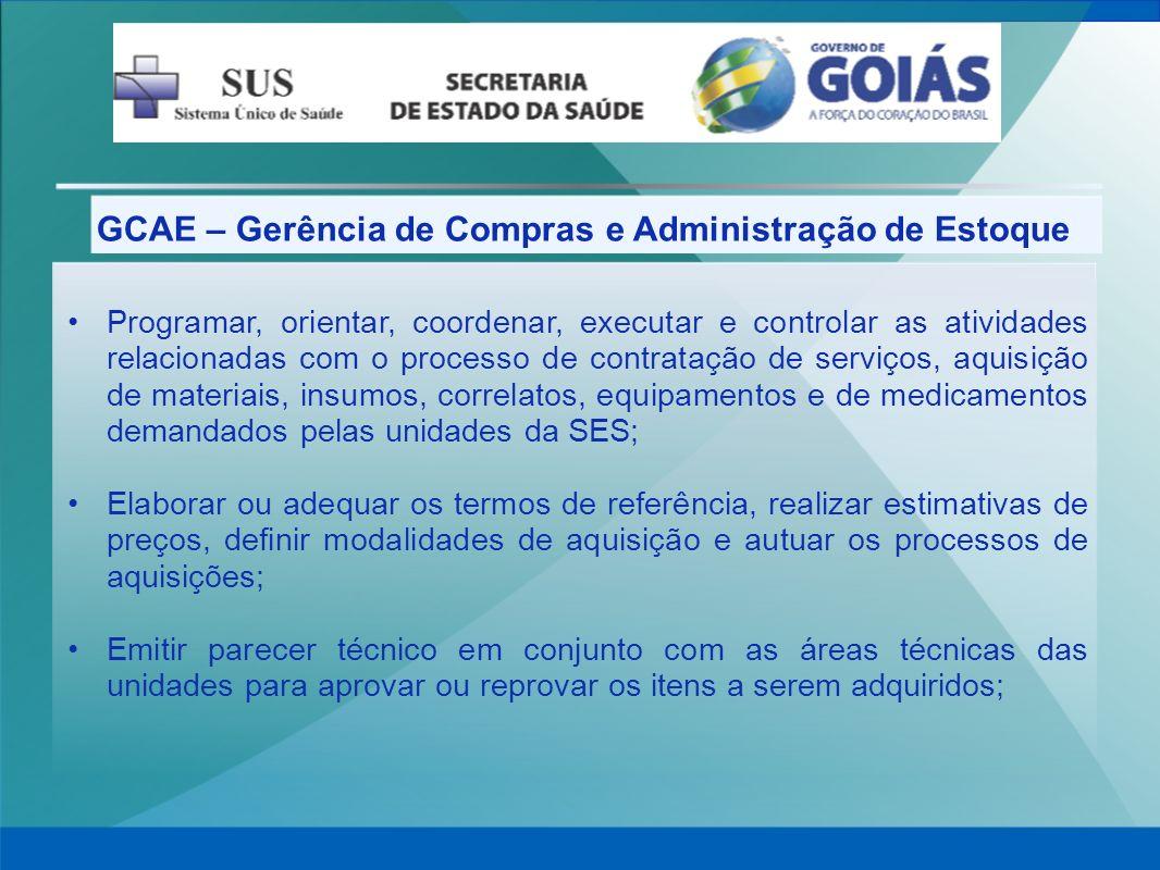 GCAE – Gerência de Compras e Administração de Estoque