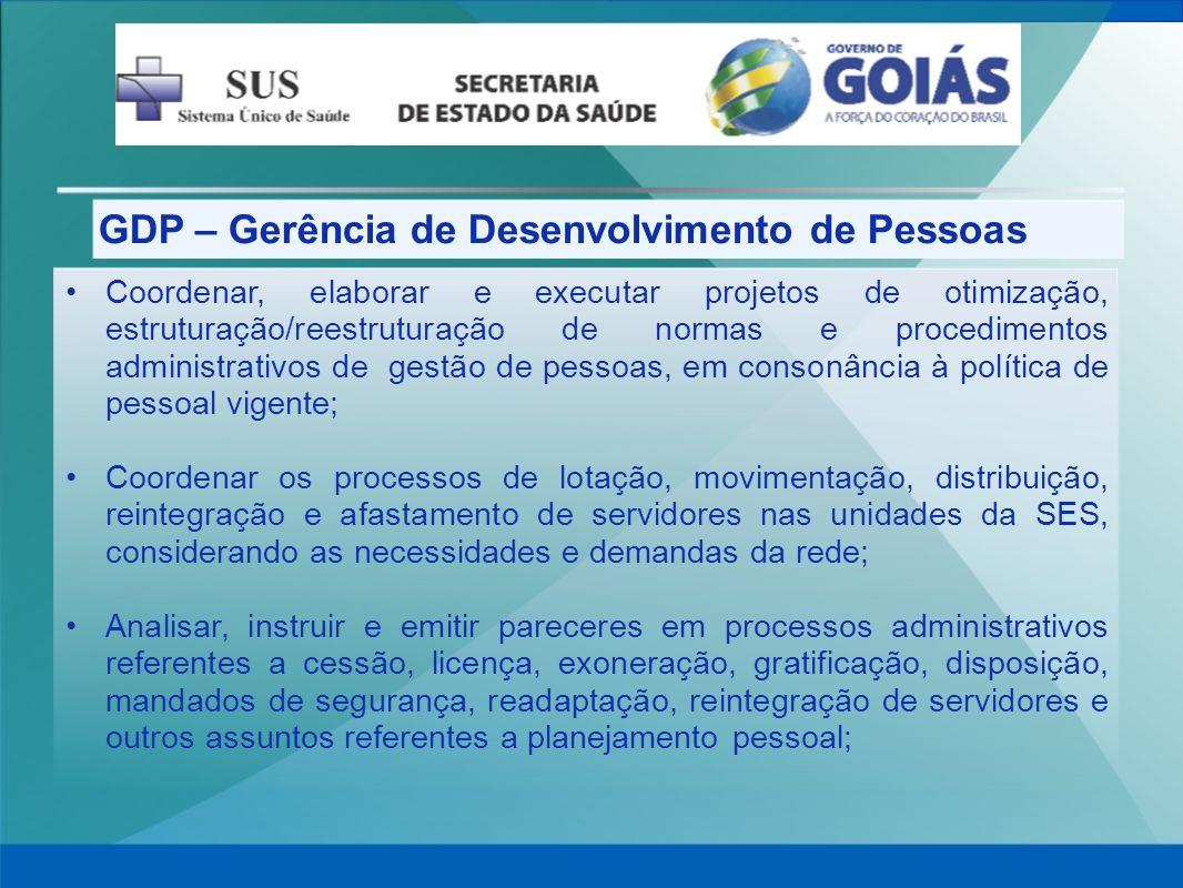 GDP – Gerência de Desenvolvimento de Pessoas