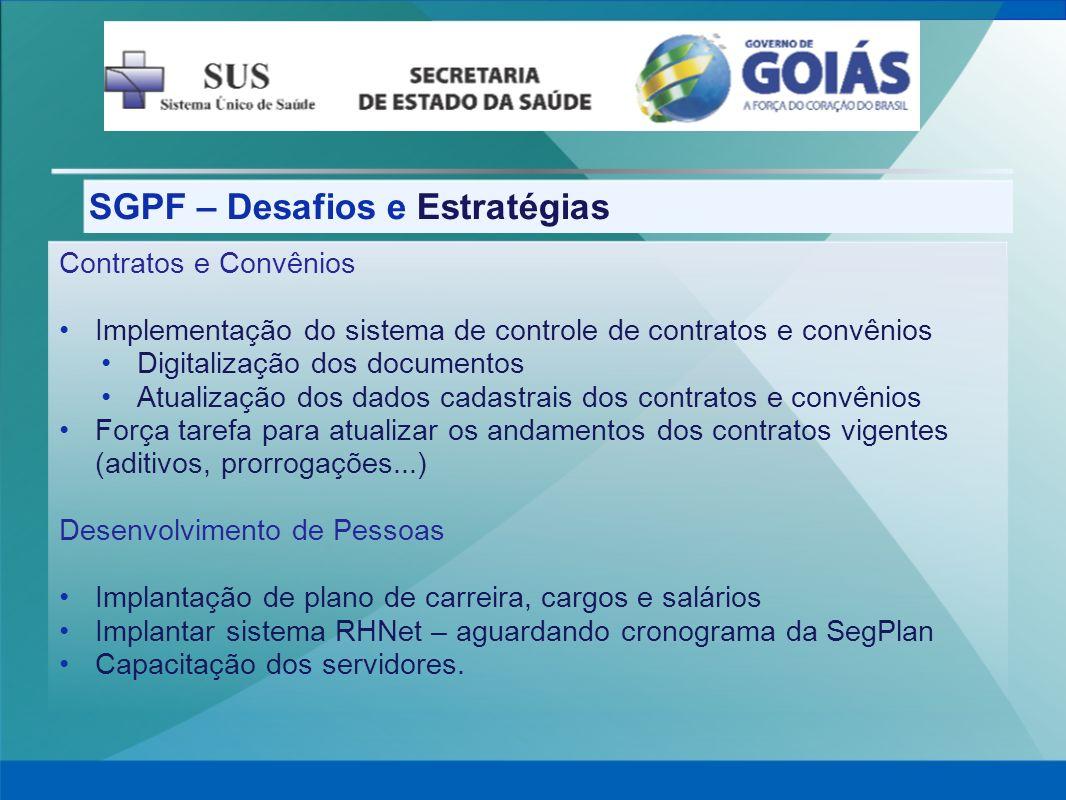 SGPF – Desafios e Estratégias
