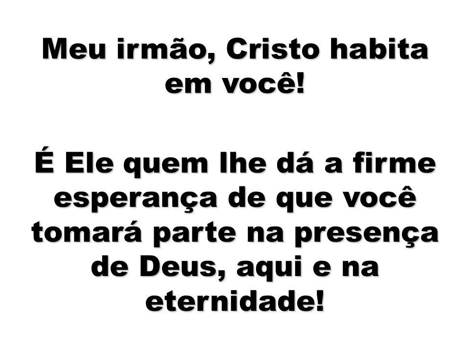 Meu irmão, Cristo habita em você!