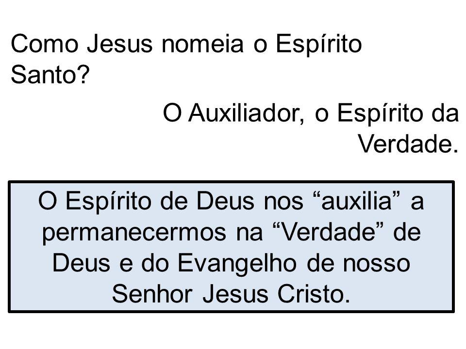 Como Jesus nomeia o Espírito Santo