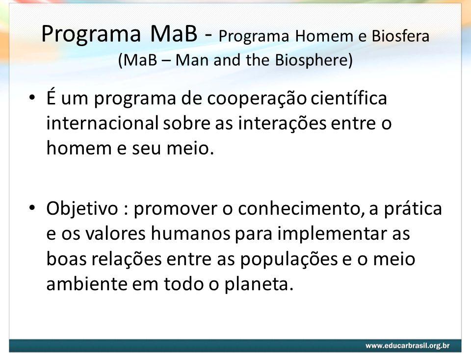 Programa MaB - Programa Homem e Biosfera (MaB – Man and the Biosphere)