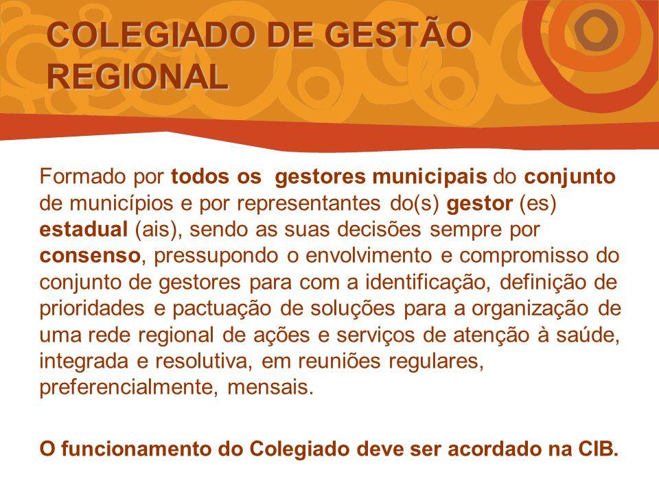 COLEGIADO DE GESTÃO REGIONAL