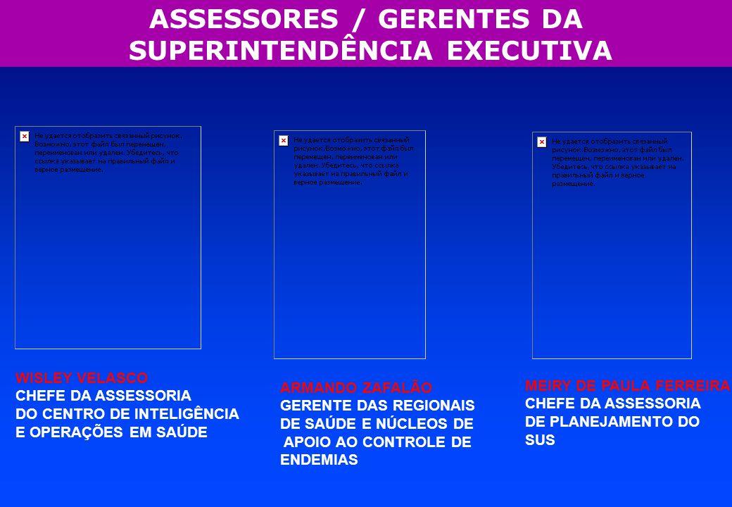 ASSESSORES / GERENTES DA SUPERINTENDÊNCIA EXECUTIVA