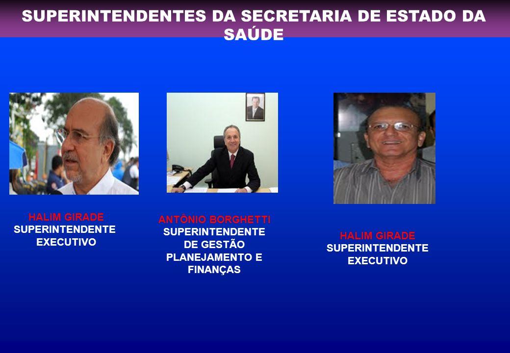 SUPERINTENDENTES DA SECRETARIA DE ESTADO DA SAÚDE