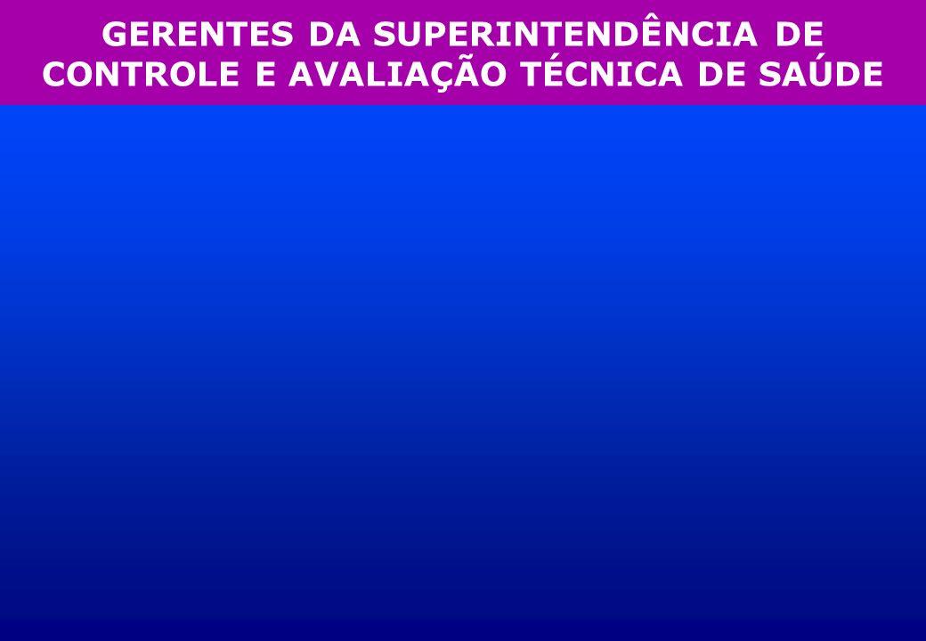 GERENTES DA SUPERINTENDÊNCIA DE CONTROLE E AVALIAÇÃO TÉCNICA DE SAÚDE