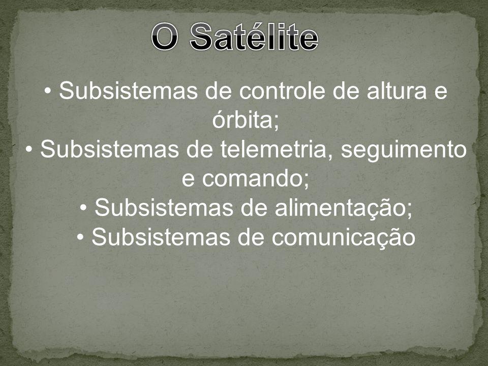 O Satélite Subsistemas de controle de altura e órbita;