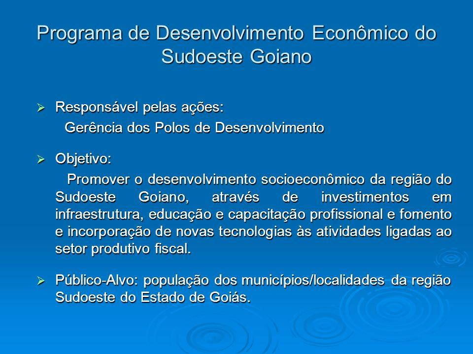 Programa de Desenvolvimento Econômico do Sudoeste Goiano
