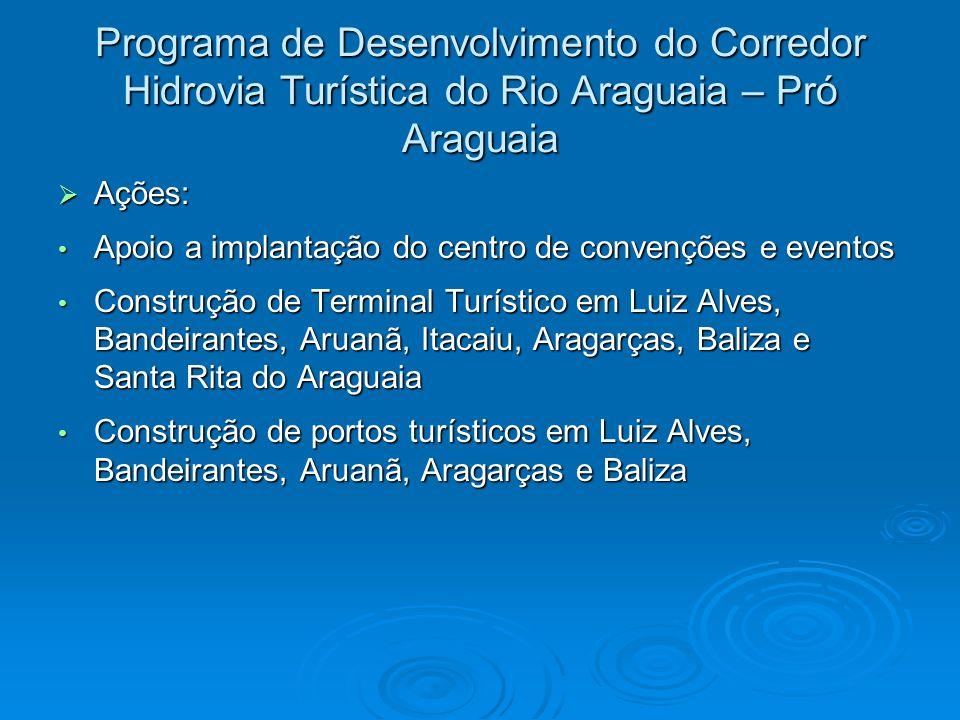 Programa de Desenvolvimento do Corredor Hidrovia Turística do Rio Araguaia – Pró Araguaia