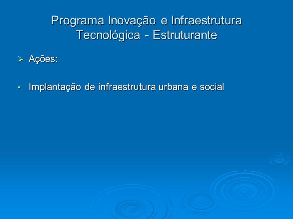 Programa Inovação e Infraestrutura Tecnológica - Estruturante