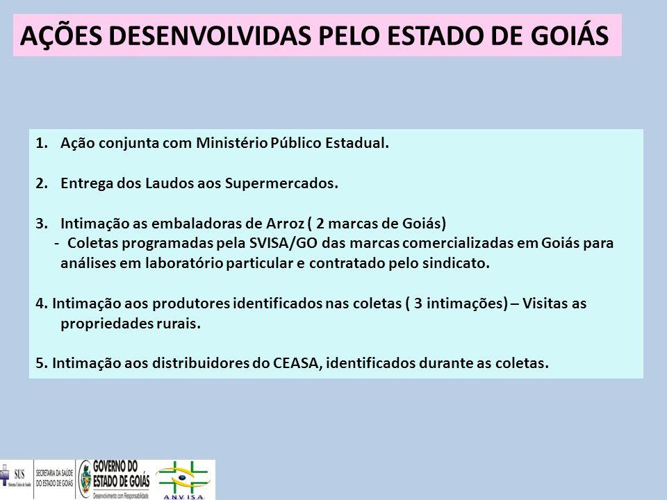 AÇÕES DESENVOLVIDAS PELO ESTADO DE GOIÁS